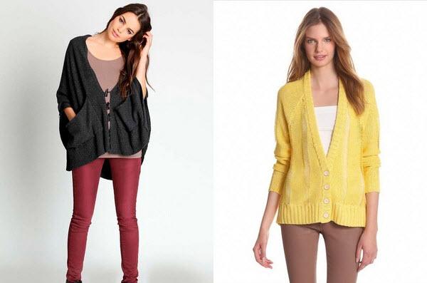 Кардиганы 2017 спицами модные