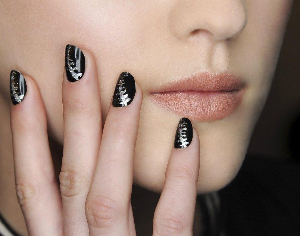 Шикарные ногти, длинные с красивыми цветами 2021