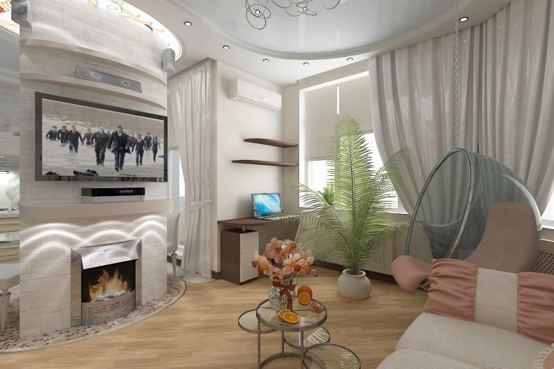 Дизайн зала 2017 с фото - новинки интерьера в гостиной