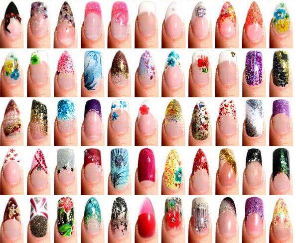 рисунки фото ногтей
