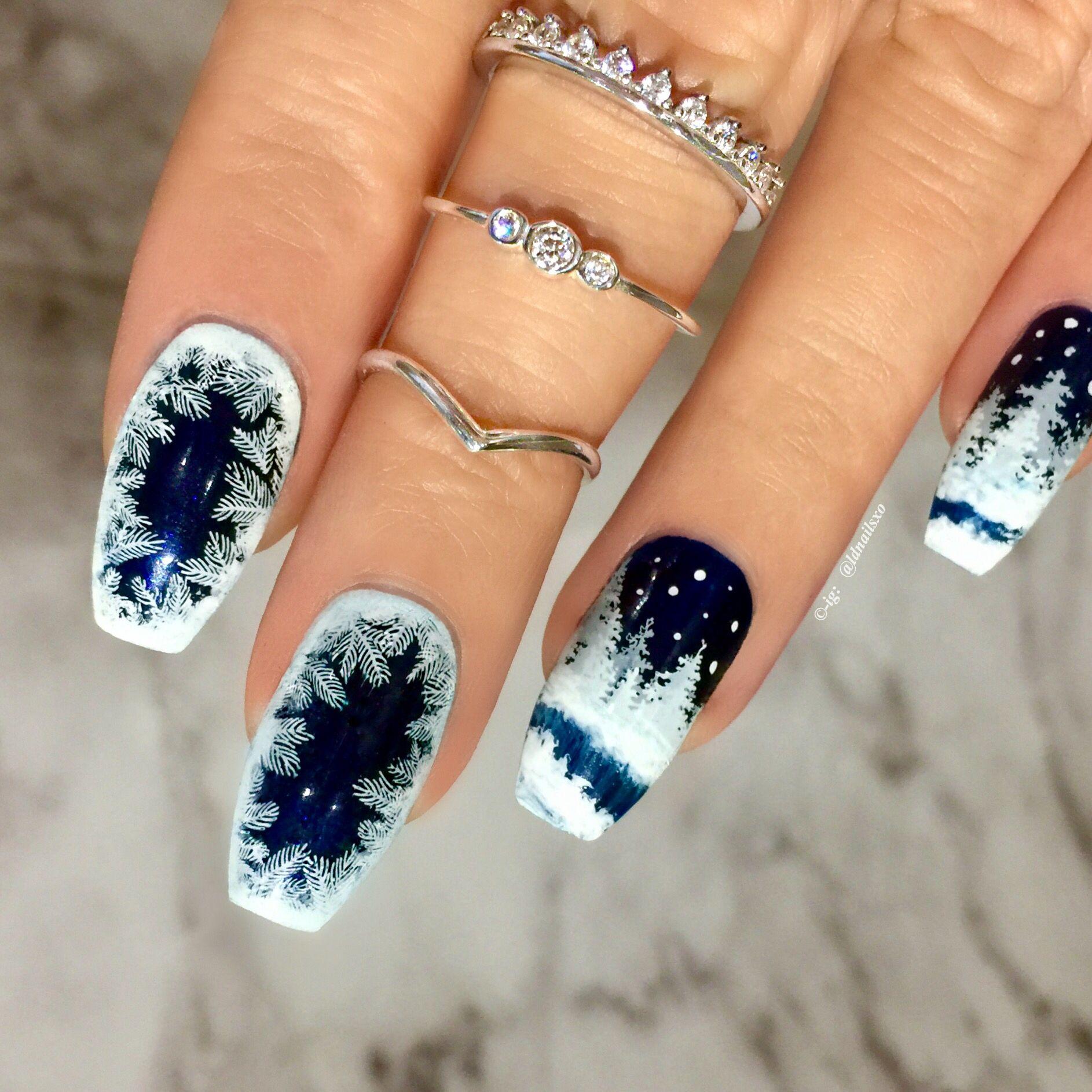 пояснение красивый дизайн ногтей зима фото щёлкнуть странице правой