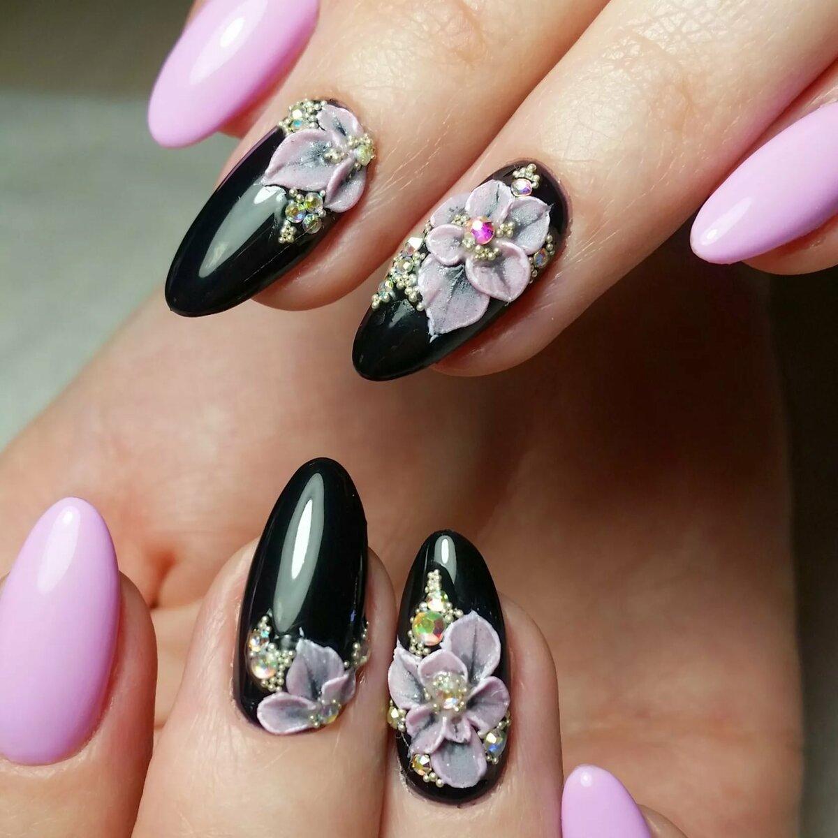 Картинки с нарощенными ногтями лето