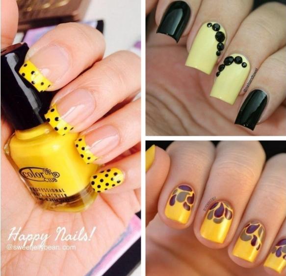 Желтый маникюр 2020 желтые ногти с фото дизайна, мода цвета, френч ...