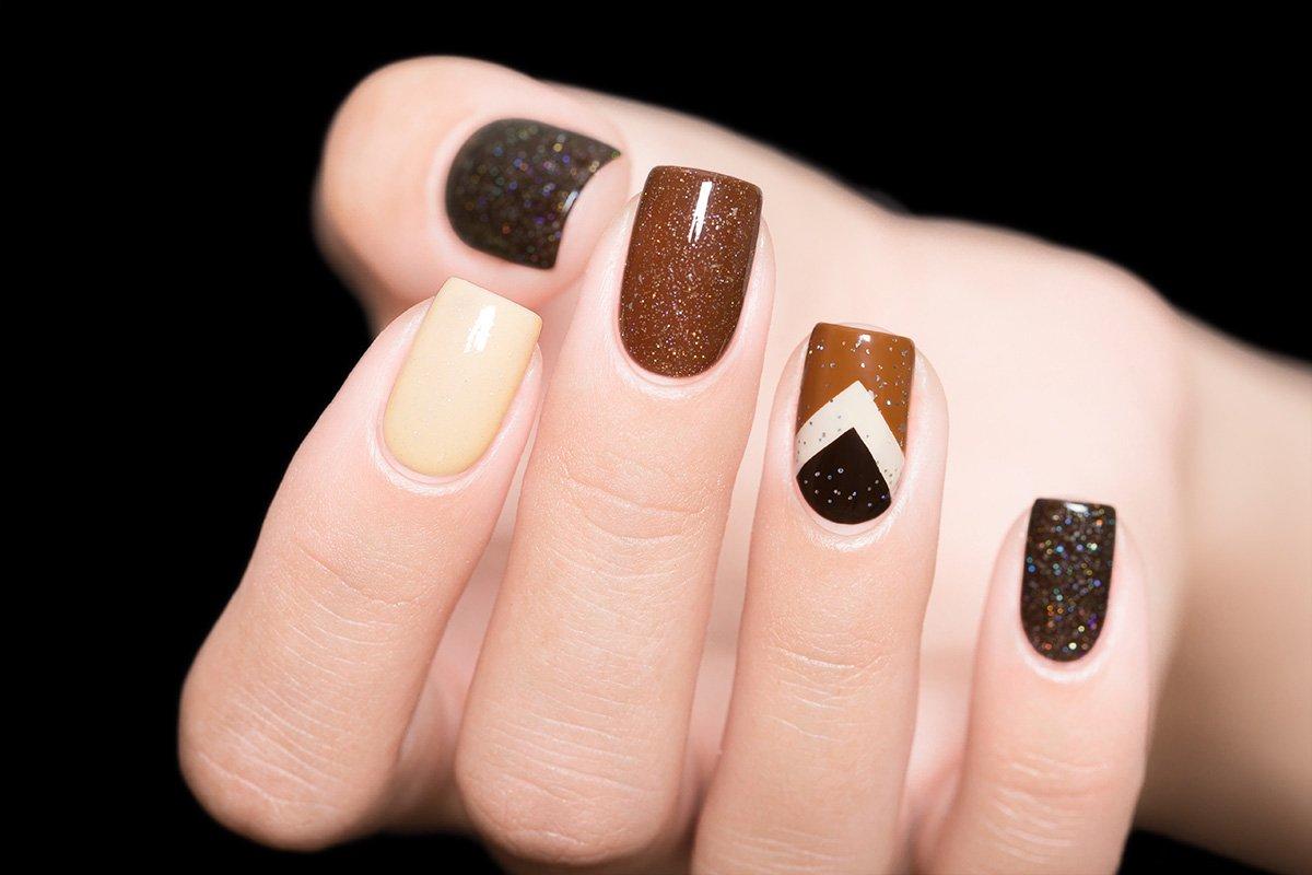 ваши фотографии дизайн ногтей коричневый цвет фото минусом такого варианта