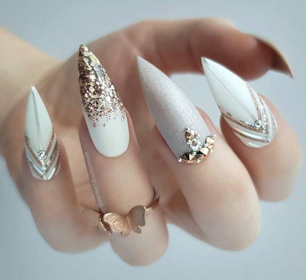 Картинки ногтей острой формы фото дизайн
