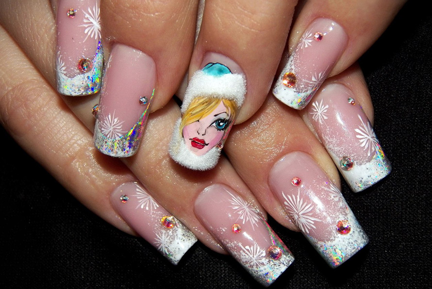 Красивые картинки дизайн ногтей новогодний